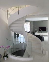 Scala interna con vetro