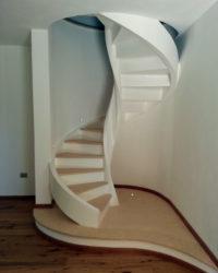 Scale a chiocciola da interno in legno